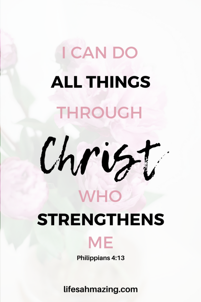 I can do all things through Christ (1)