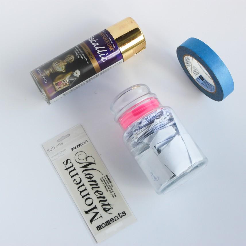 materials for gratitude jar