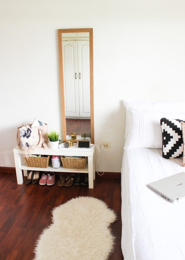 lack tv bench as a bedside table