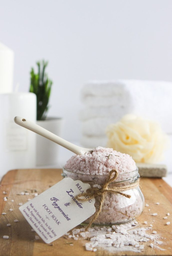 Revitalizing Home-made Lavender and Peppermint Foot soak