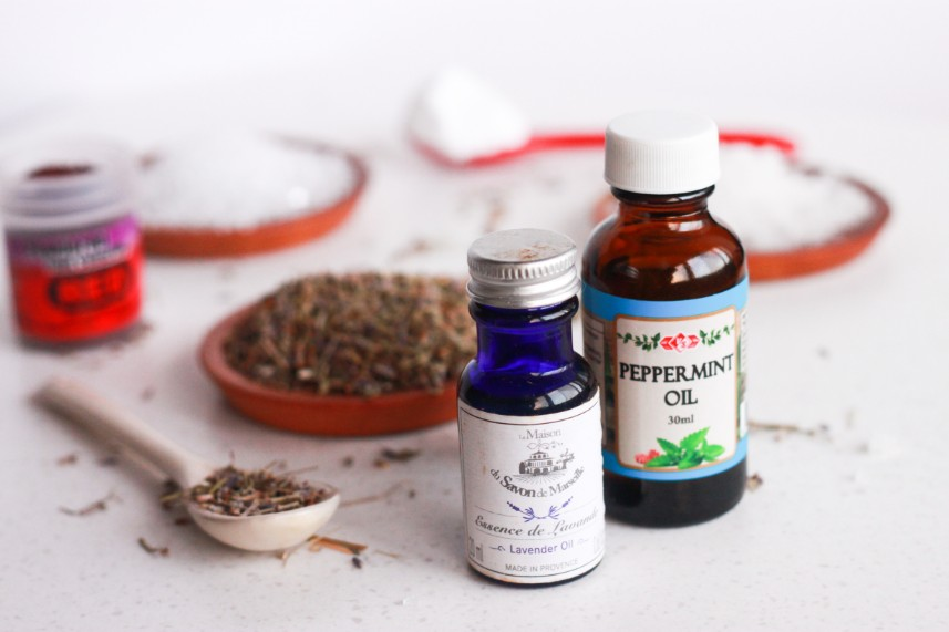 lavender and peppermint essential oils for foot soak