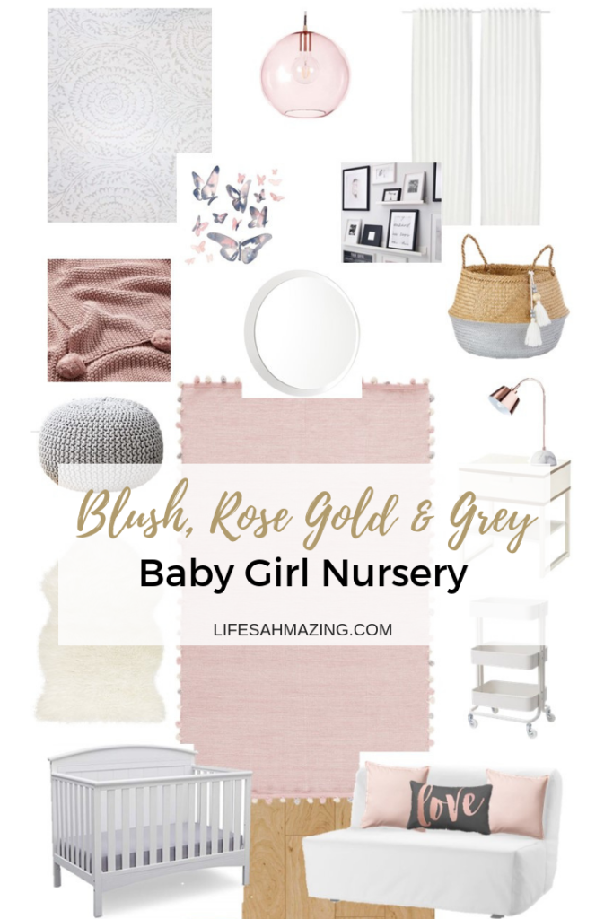 Chic Blush Rose Gold And Grey Nursery Inspiration And