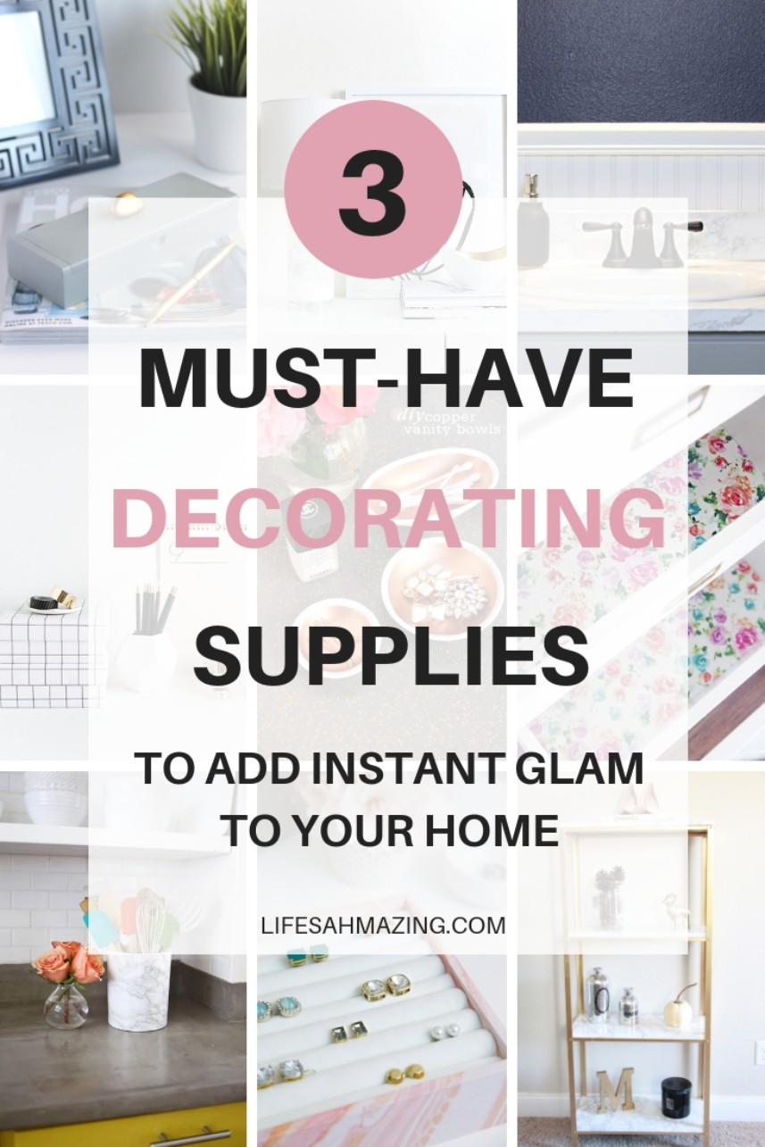 3 affordable DIY decorating supplies to refresh your home and add instant glam on a budget