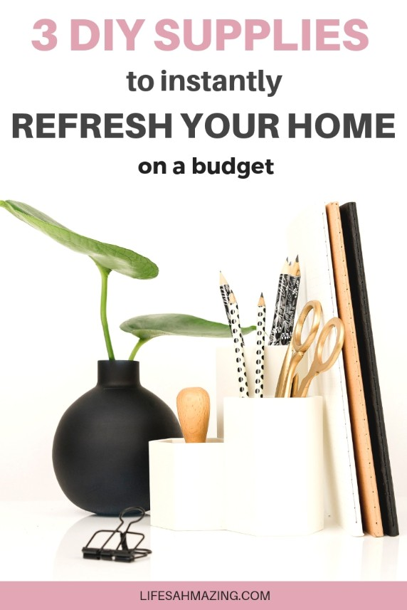 3 DIY decorating supplies to refresh your home and add instant glam on a budget. Home decor | DIY decor | Home updates | Budget decor