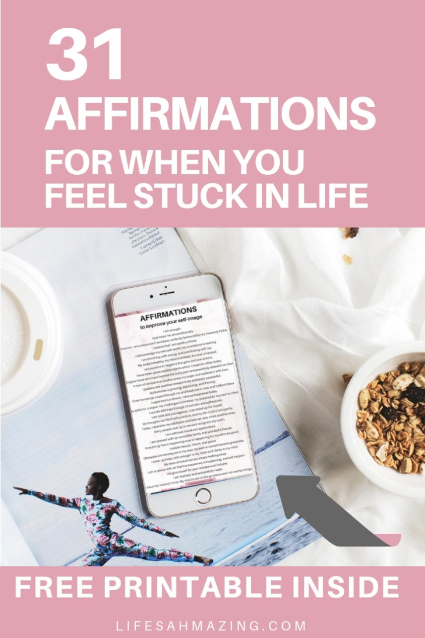 31 positive affirmations to improve your self-image, self-love, self-worth. Positive mindset | mindset shift | self-love | change your mindset | Positive thinking