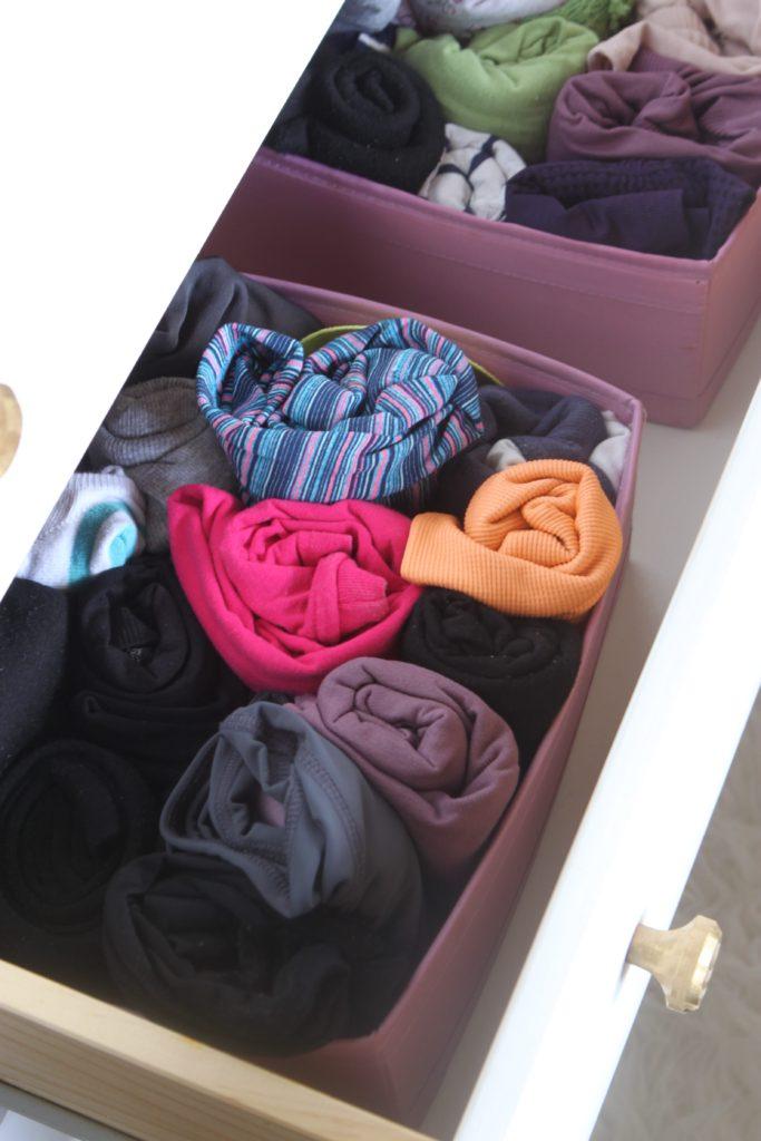 Closet organization tip 5: Use canvas or fabric boxes such as Ikea SKUBB box set - 7 small closet organization tips