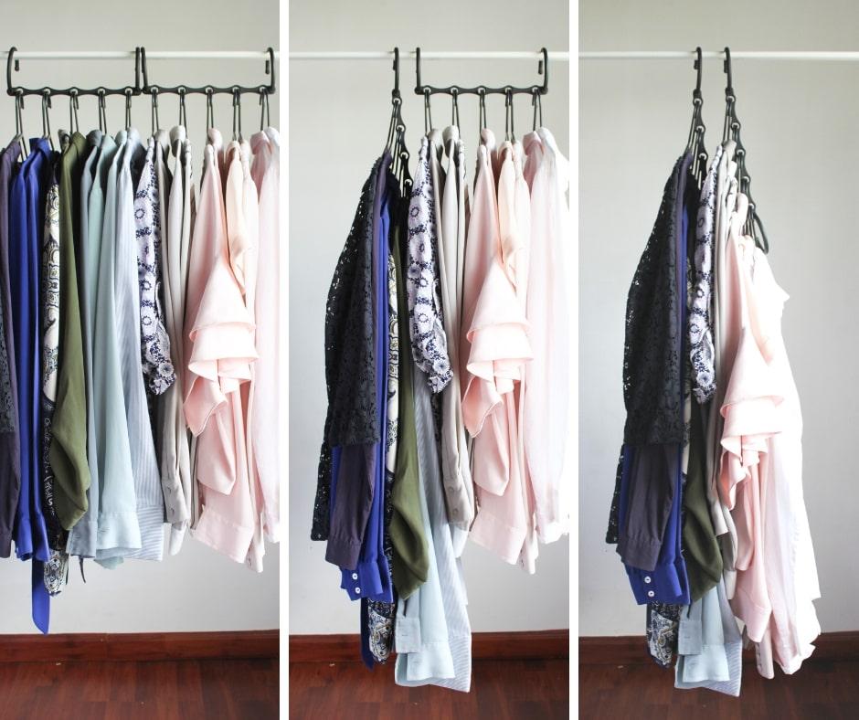 Closet organization tip 4: Use space-saving hangers to maximize storage - 7 small closet organization tips