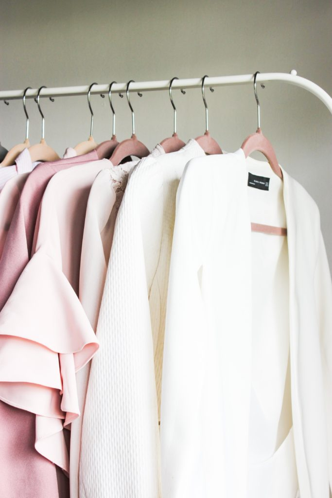 Closet organization tip 2: Use velvet hangers for a cohesive look on a budget - 7 small closet organization tips
