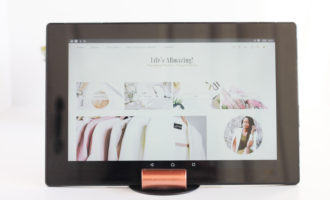 easy diy tablet stand from ikea bookend