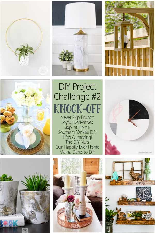 DIY Project Challenge - West elm inspired DIY wall clock