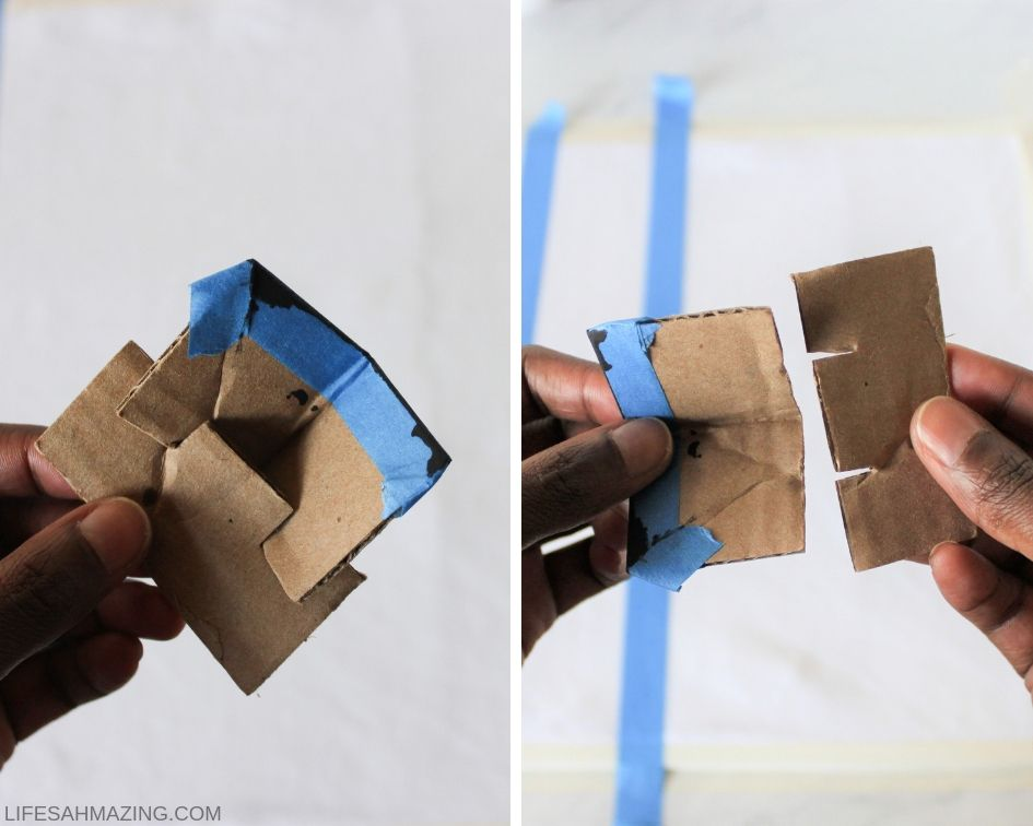 diy stamp made from cardboard