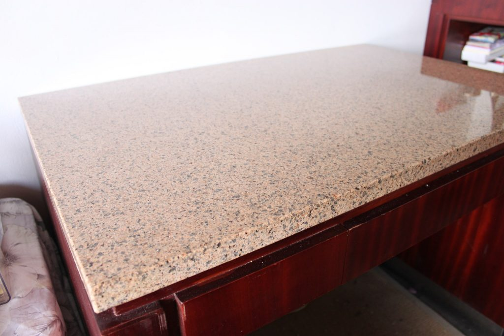 desk with granite top - before