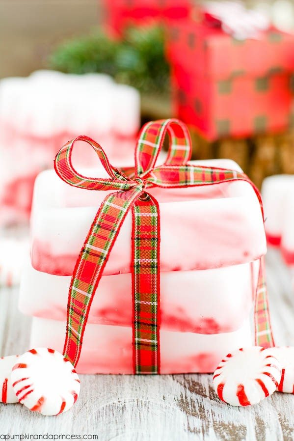 DIY gift ideas - DIY peppermint soap