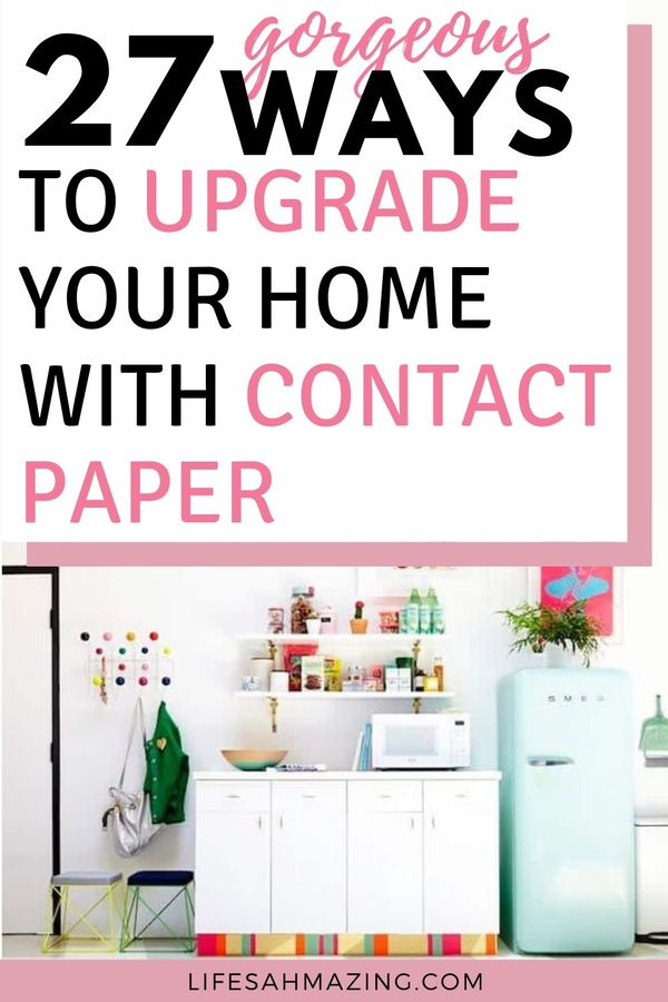 27 ways to use contact paper - eg. kitchen toekick