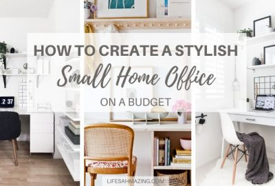 how to create a stylish Small Home Office on a budget
