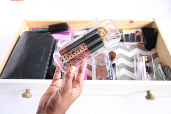 ikea acrylic organizer storing lip products