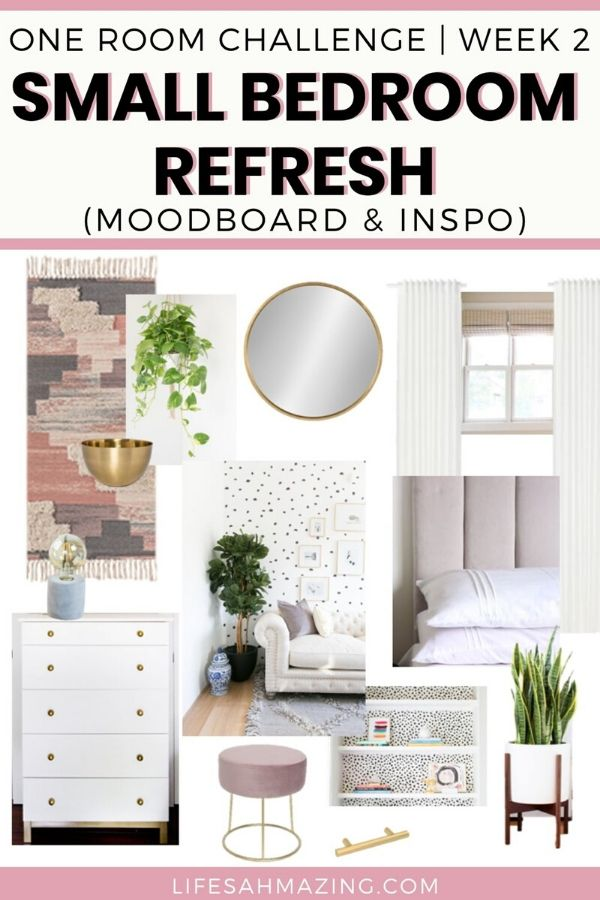 moodboard for small bedroom refresh