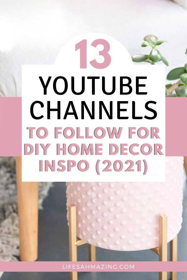 pin image for diy home decor youtube channels to follow